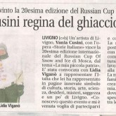 Vania Cusini regina del ghiaccio a Mosca