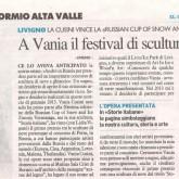 Translate in en: A Vania il festival di sculture di ghiaccio