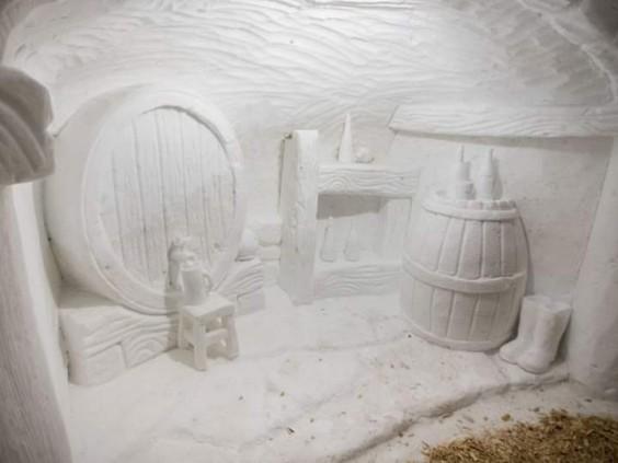 snow cave restaurant