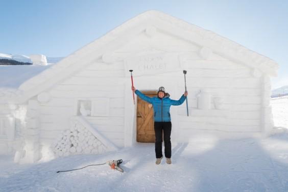 snow chalet 1